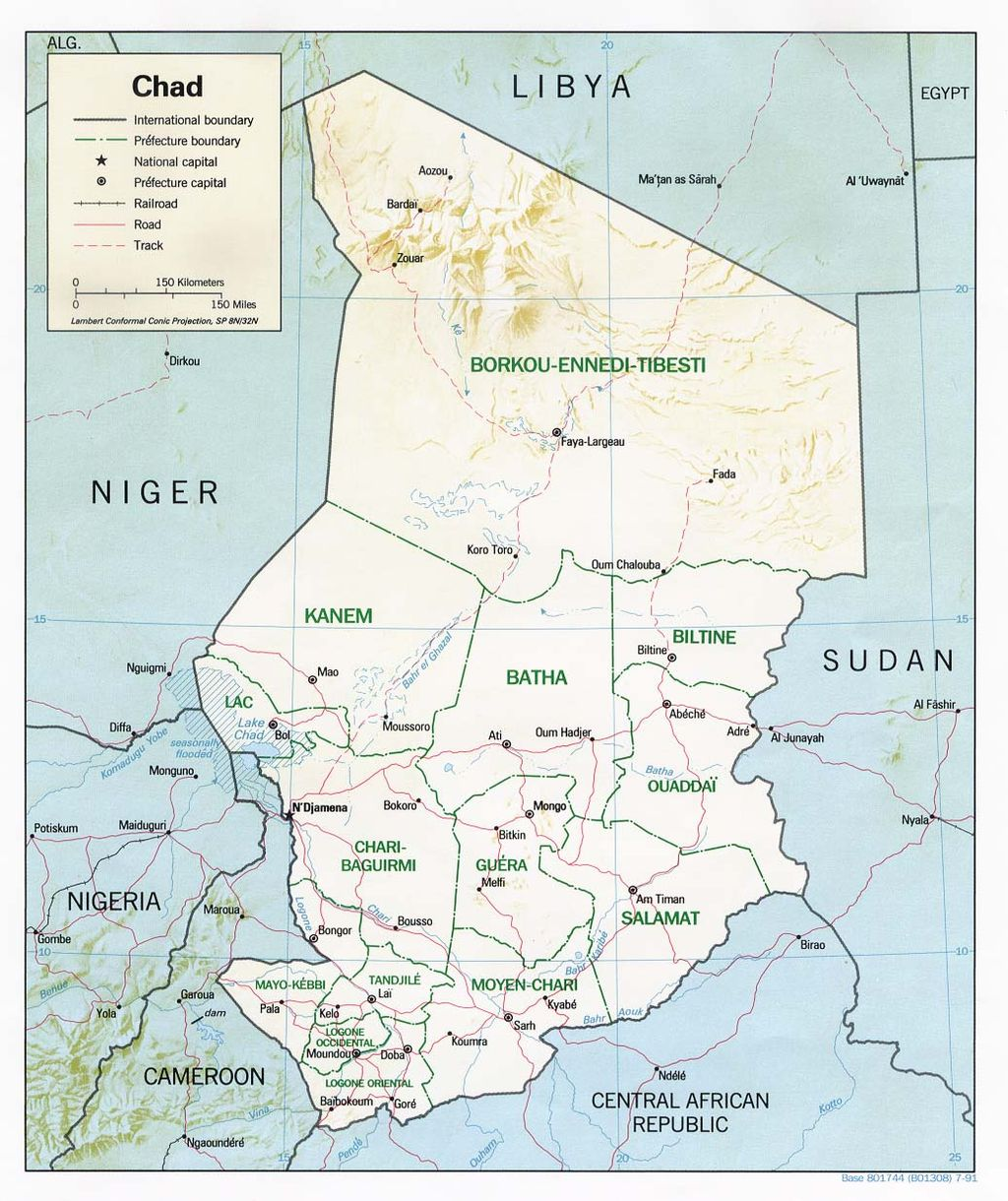 Carte : Atlas of Chad - Wikimedia Commons