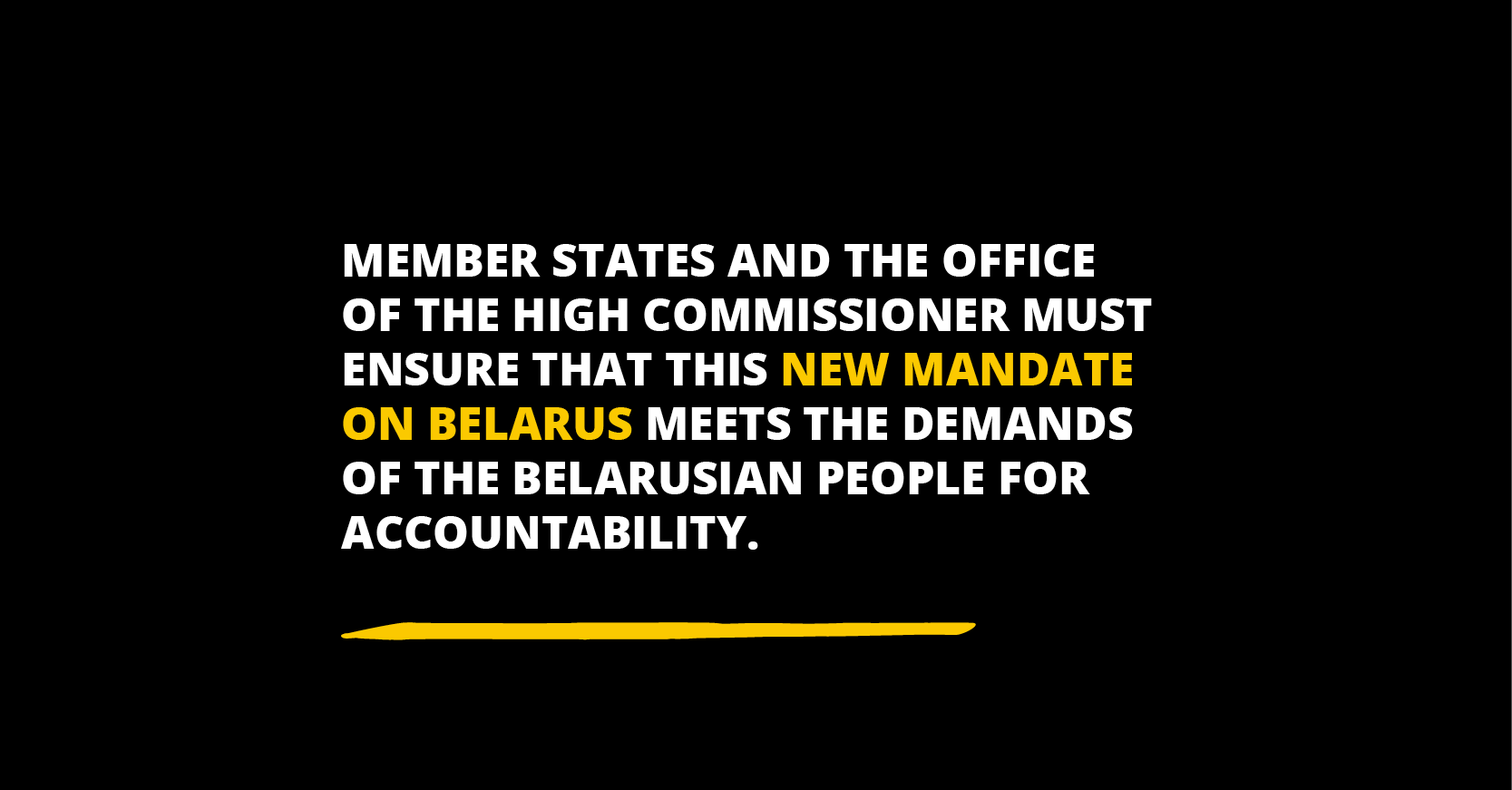 HRC new mandate on Belarus