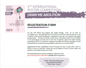 Registration form - International posters competition