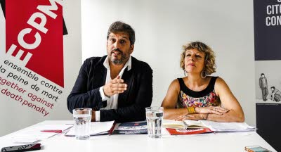 Raphaël Chenuil-Hazan, ECPM and Véronique Roy, Collectif Familles Unies