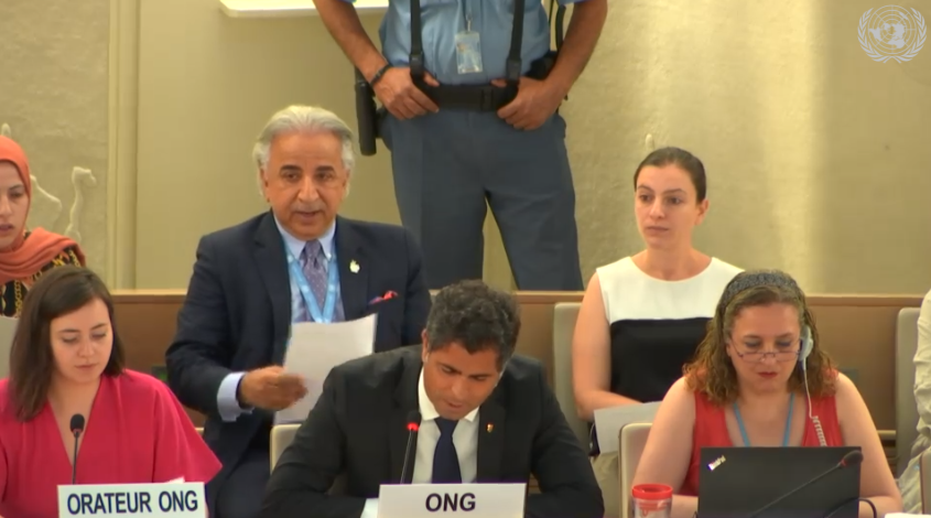 Taimoor Aliassi, ECPM representative to the Human Rights Council